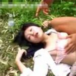 【本物レイプ動画】JK山奥に拉致って首絞め陵辱してる映像やべぇ・・・