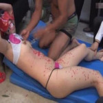【本物レイプ動画】生徒達に監禁されて性欲処理専用のメス豚として調教される美女女教師・・・・