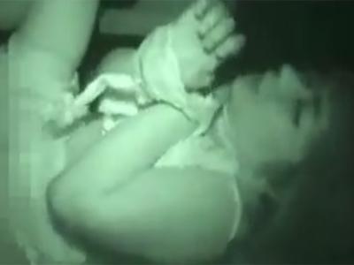 【本物レイプ動画】うめき声のように泣き声と喘ぎ声が混じり車内に拉致られ輪姦された個人撮影映像