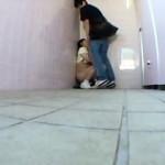 【本物レイプ動画】ポニーテールの中●生少女を公衆便所に連れ込んで強引に生チンチン咥えさせ生姦種付け強姦したったww
